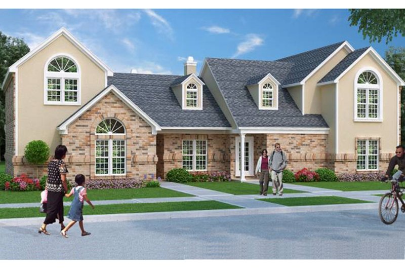 Traditional Exterior - Front Elevation Plan #45-411 - Houseplans.com
