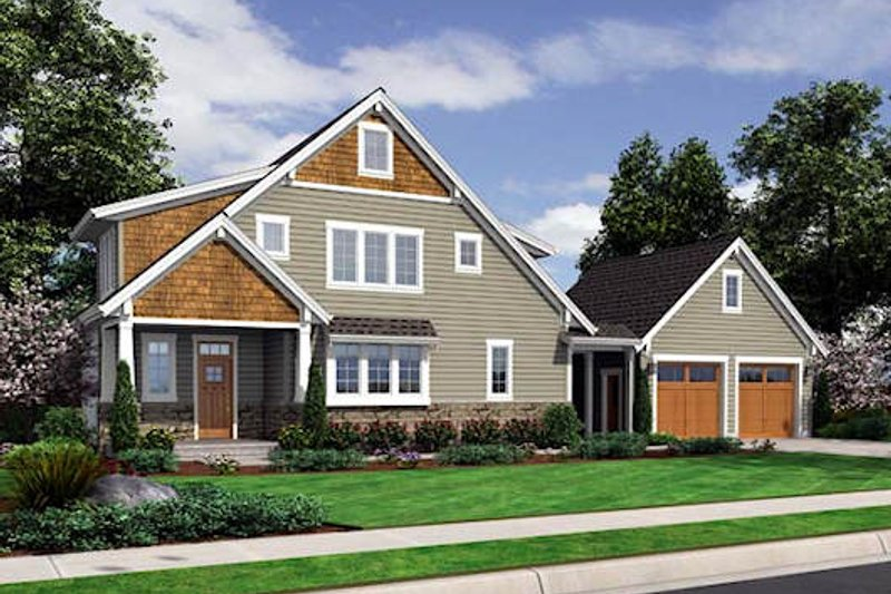 Dream House Plan - Country Exterior - Front Elevation Plan #46-476