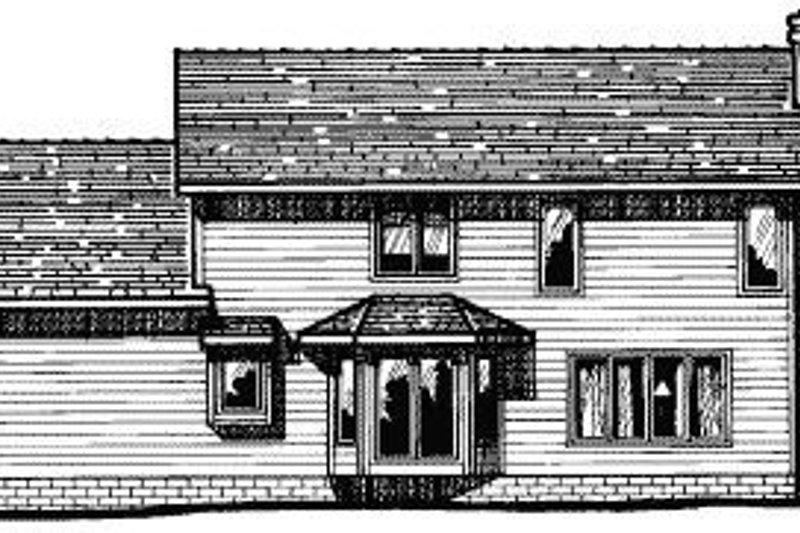 Traditional Exterior - Rear Elevation Plan #20-582 - Houseplans.com