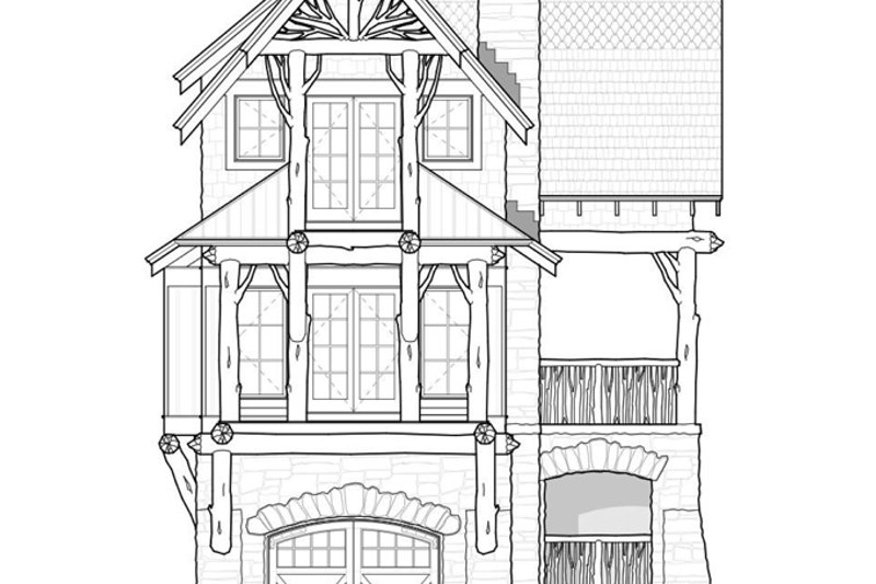 Cabin Exterior - Front Elevation Plan #928-246 - Houseplans.com