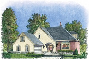 Country Exterior - Front Elevation Plan #1016-104
