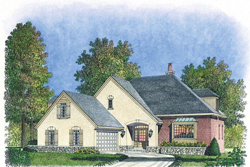Country Exterior - Front Elevation Plan #1016-104 - Houseplans.com