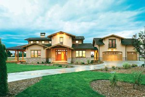 Dream House Plan - Craftsman Exterior - Front Elevation Plan #1042-1