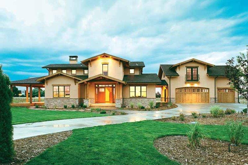 House Design - Craftsman Exterior - Front Elevation Plan #1042-1