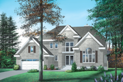 European Style House Plan - 4 Beds 3.5 Baths 3255 Sq/Ft Plan #25-2121 Exterior - Front Elevation