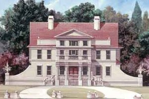 Architectural House Design - Colonial Exterior - Front Elevation Plan #119-149