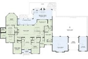 European Style House Plan - 3 Beds 4.5 Baths 4380 Sq/Ft Plan #17-2506 Floor Plan - Main Floor Plan