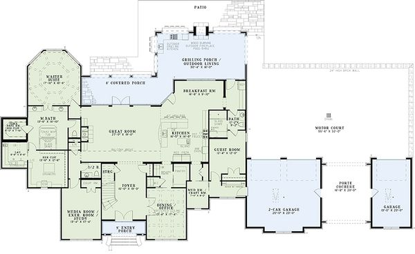 European house plan and luxury floor plan