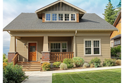 Craftsman Style House Plan - 3 Beds 2 Baths 1905 Sq/Ft Plan #461-31 Exterior - Front Elevation