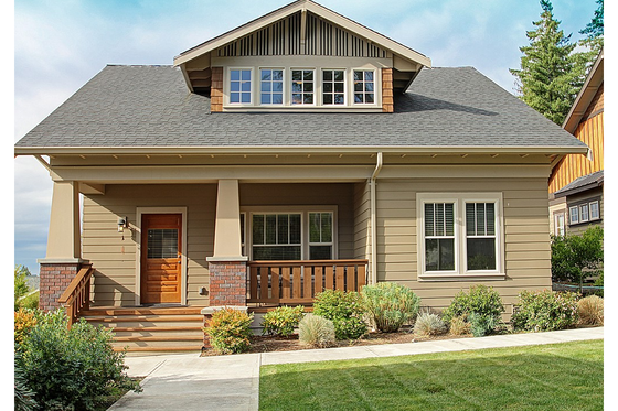 Craftsman Exterior - Front Elevation Plan #461-31