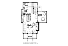 Cabin Floor Plan - Main Floor Plan Plan #928-246