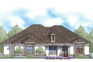 Country Exterior - Front Elevation Plan #938-75