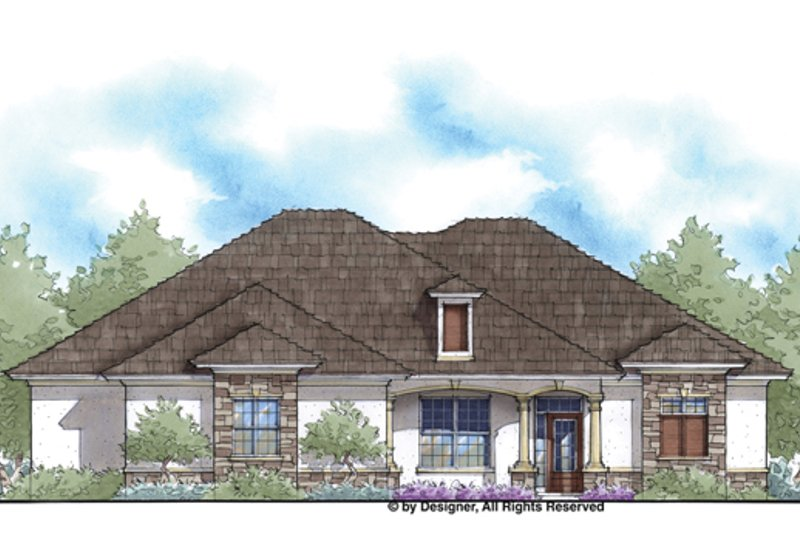 House Plan Design - Country Exterior - Front Elevation Plan #938-75