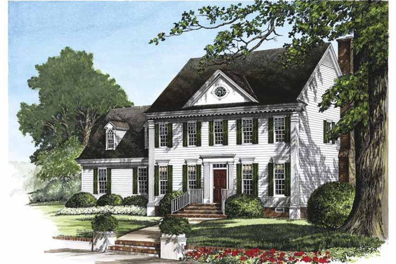 Classical Exterior - Front Elevation Plan #137-314 - Houseplans.com