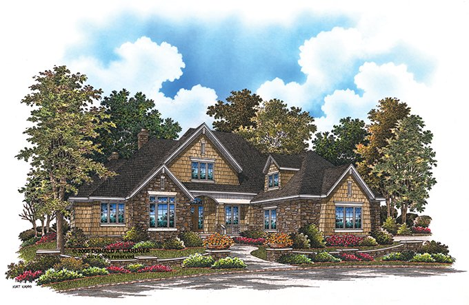 Home Plan - Cottage Exterior - Front Elevation Plan #929-927