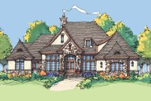 European Exterior - Front Elevation Plan #929-929