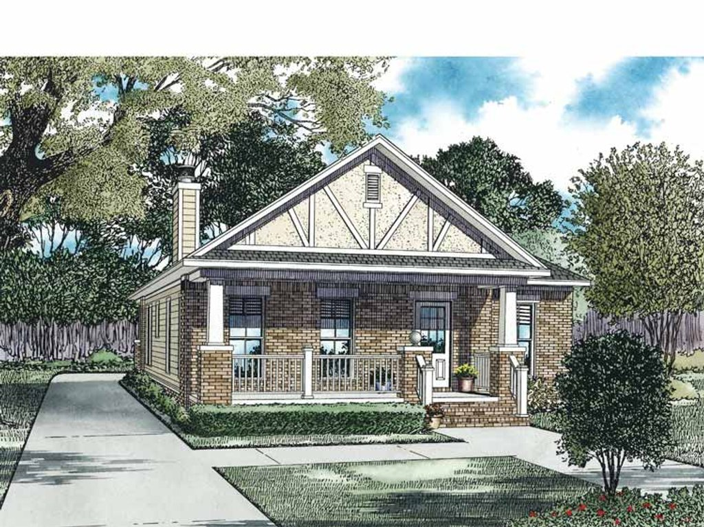 Craftsman style house plan 2 beds 2 baths 1309 sq ft for Weinmaster house plans