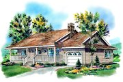 Farmhouse Style House Plan - 2 Beds 1 Baths 984 Sq/Ft Plan #18-1016 Exterior - Front Elevation