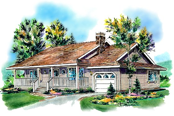 Farmhouse Exterior - Front Elevation Plan #18-1016