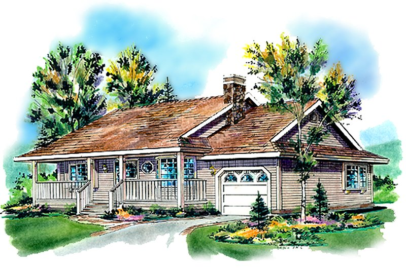 Farmhouse Style House Plan - 2 Beds 1 Baths 984 Sq/Ft Plan #18-1016