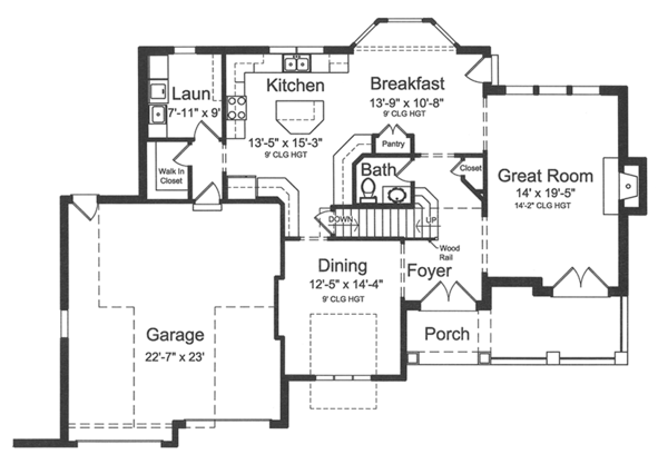European Floor Plan - Main Floor Plan Plan #46-849