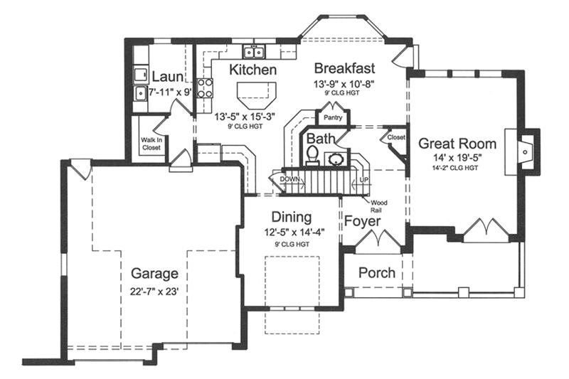 European Floor Plan - Main Floor Plan Plan #46-849
