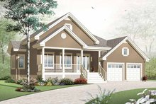 Dream House Plan - Country Exterior - Front Elevation Plan #23-2384