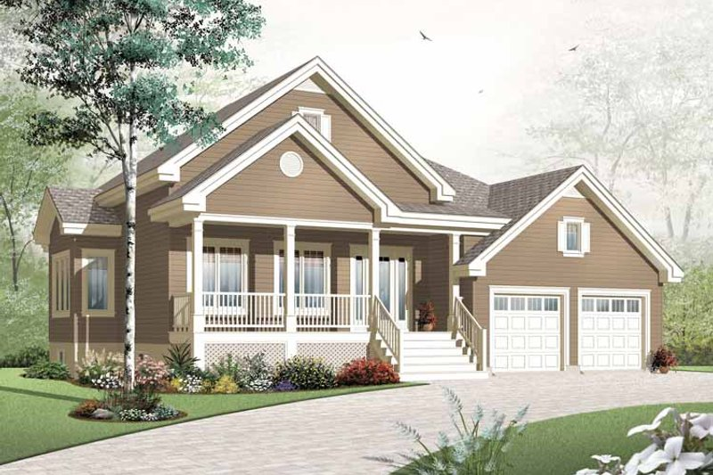 Country Exterior - Front Elevation Plan #23-2384 - Houseplans.com