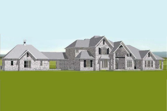 European Exterior - Front Elevation Plan #408-104