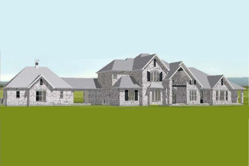 European Style House Plan - 3 Beds 5.5 Baths 5250 Sq/Ft Plan #408-104 Exterior - Front Elevation