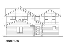Home Plan - Contemporary Exterior - Front Elevation Plan #569-35
