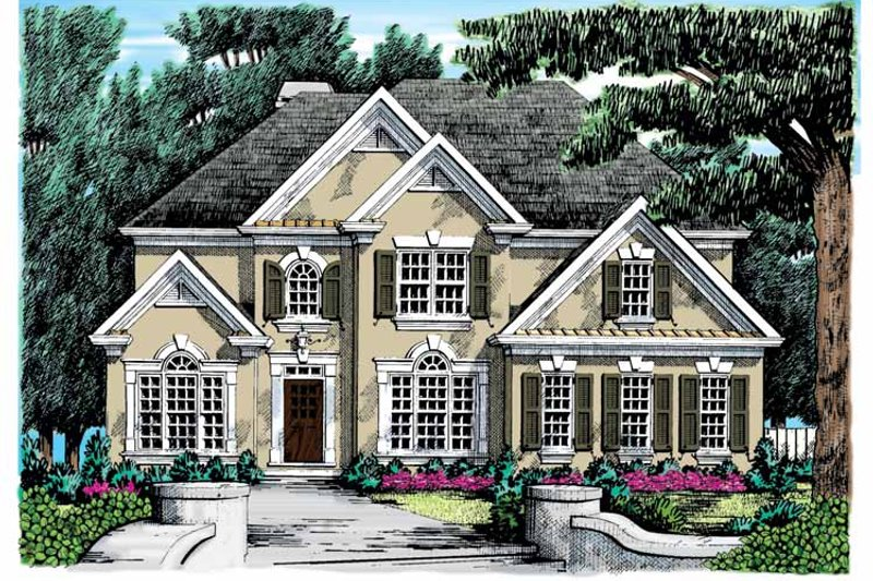 Colonial Exterior - Front Elevation Plan #927-682