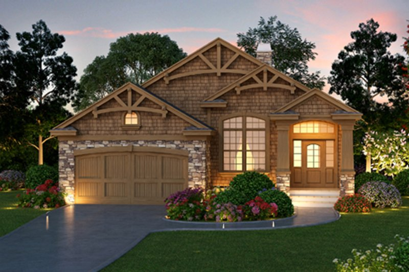 Craftsman Style House Plan - 3 Beds 2 Baths 1768 Sq/Ft Plan #417-826 Exterior - Front Elevation