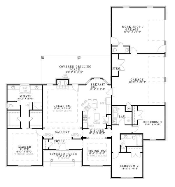 House Plan Design - Ranch Floor Plan - Main Floor Plan #17-2781