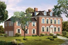 Classical Exterior - Front Elevation Plan #72-821