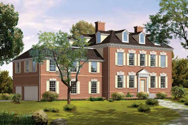 Home Plan - Classical Exterior - Front Elevation Plan #72-821