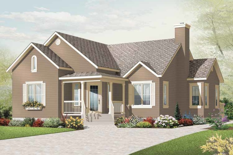 Country Exterior - Front Elevation Plan #23-2380