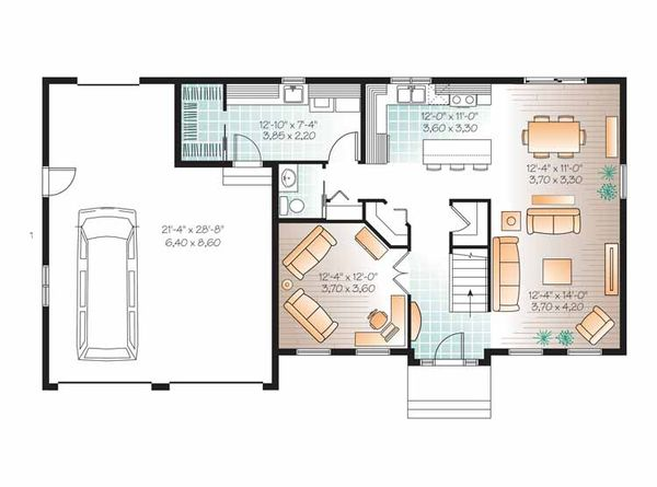 Colonial Floor Plan - Main Floor Plan Plan #23-2479