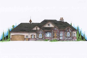 Architectural House Design - European Exterior - Front Elevation Plan #945-123