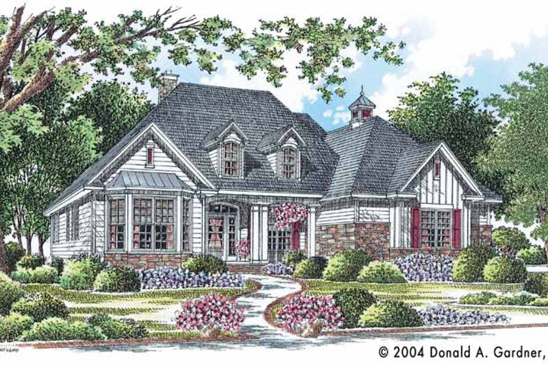 Country Exterior - Front Elevation Plan #929-610 - Houseplans.com