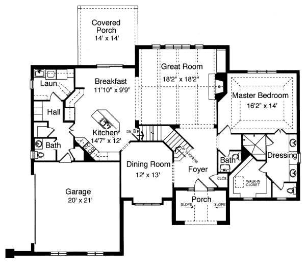 Traditional Floor Plan - Main Floor Plan Plan #46-401