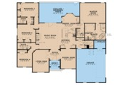 Ranch Style House Plan - 4 Beds 3 Baths 2646 Sq/Ft Plan #923-75 Floor Plan - Main Floor