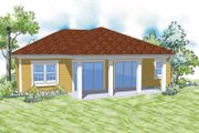 Country Style House Plan - 3 Beds 2 Baths 1676 Sq/Ft Plan #930-365 Exterior - Rear Elevation