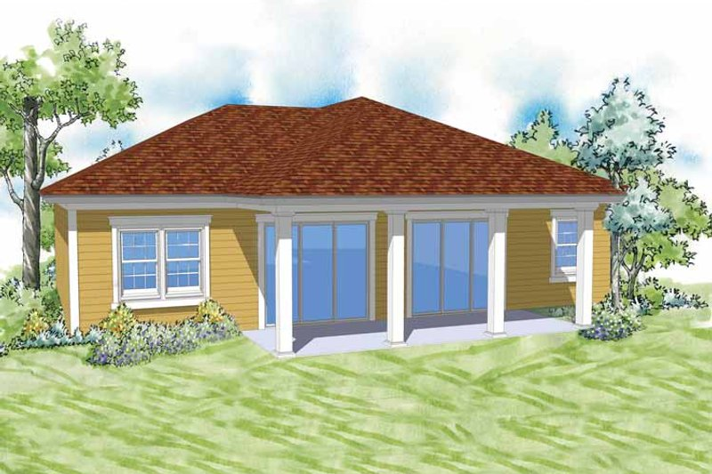 Country Exterior - Rear Elevation Plan #930-365 - Houseplans.com
