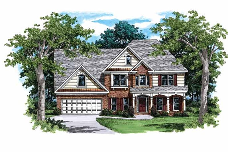 Country Exterior - Front Elevation Plan #927-81