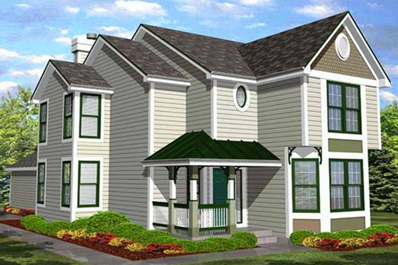 Country Exterior - Front Elevation Plan #320-1490