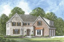 European Exterior - Front Elevation Plan #952-205