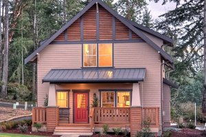 Architectural House Design - Craftsman Exterior - Front Elevation Plan #461-24