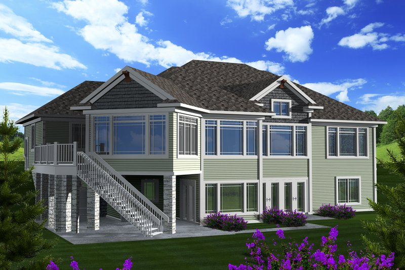Ranch Exterior - Rear Elevation Plan #70-1149 - Houseplans.com