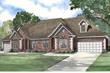 House Plan Design - Country Exterior - Front Elevation Plan #17-3196